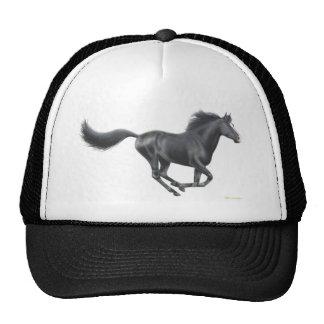 Galloping Black Horse Cap