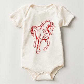 Galloping Draft Horse Baby Bodysuit