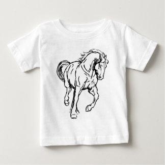 Galloping Draft Horse Baby T-Shirt