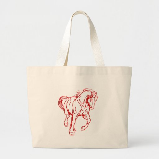 Galloping Draft Horse Canvas Bag