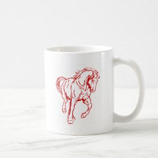 Galloping Draft Horse Basic White Mug