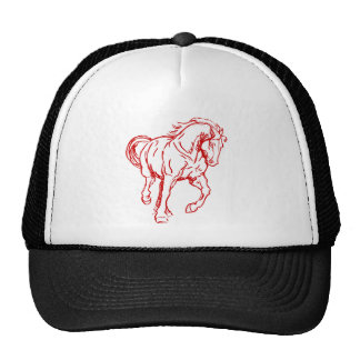 Galloping Draft Horse Mesh Hats
