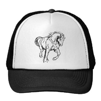 Galloping Draft Horse Trucker Hat