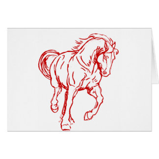 Galloping Draft Horse Greeting Cards