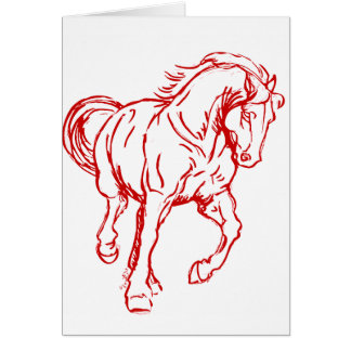 Galloping Draft Horse Card