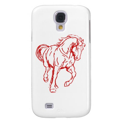 Galloping Draft Horse Samsung Galaxy S4 Covers