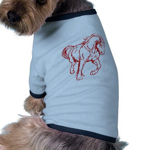 Galloping Draft Horse Doggie T-shirt