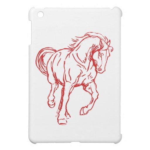 Galloping Draft Horse iPad Mini Cover