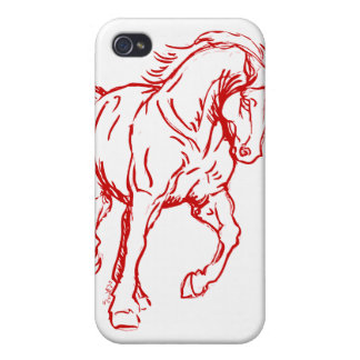 Galloping Draft Horse Cover For iPhone 4
