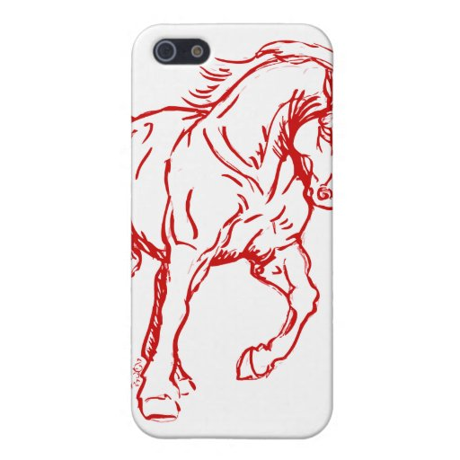 Galloping Draft Horse iPhone 5 Covers
