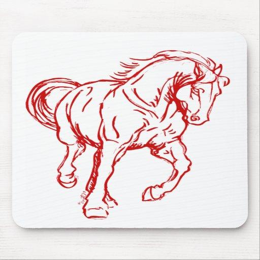 Galloping Draft Horse Mousepad