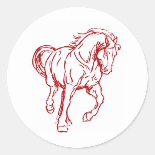 Galloping Draft Horse Sticker