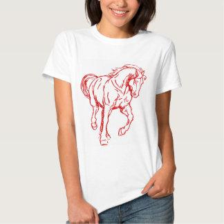 Galloping Draft Horse T Shirts