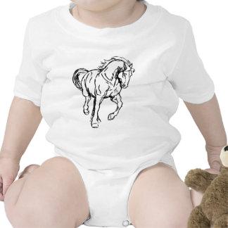 Galloping Draft Horse Tee Shirt