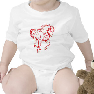 Galloping Draft Horse Romper