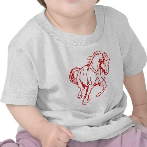 Galloping Draft Horse T-shirts
