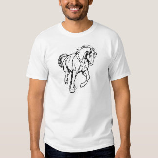 Galloping Draft Horse Tshirt