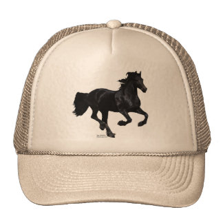 Galloping Friesian Cap