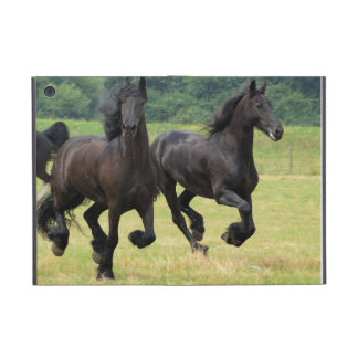 Galloping Friesian Horses Cases For iPad Mini