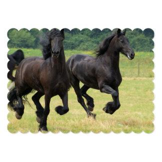 Galloping Friesian Horses Invitation