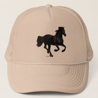 Galloping Friesian Trucker Hat
