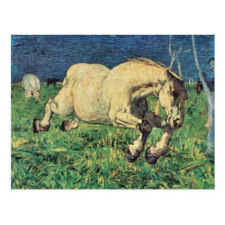 Galloping Horse by Giovanni Segantini, Vintage Art Postcard