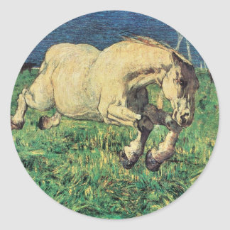 Galloping Horse by Giovanni Segantini, Vintage Art Stickers