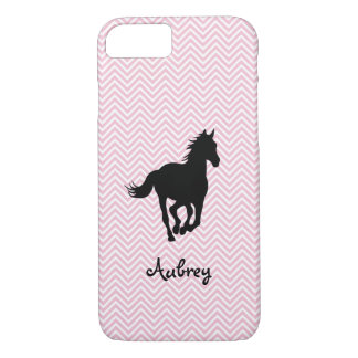 Galloping Horse on Zigzag Personalized iPhone 8/7 Case