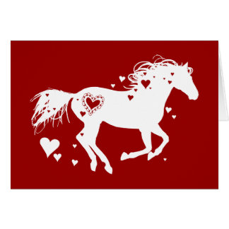 Galloping Horse Valentine s Day Card