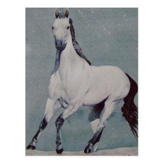 Galloping Horse Watercolor Postcard