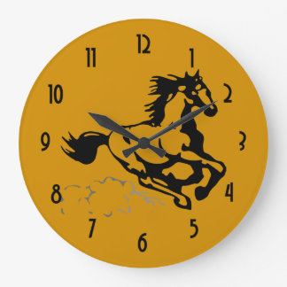 Galloping Horse Wild and Free Clock