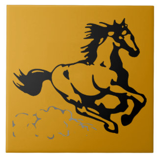 Galloping Horse Wild and Free Large Square Tile
