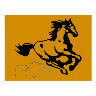 Galloping Horse Wild and Free Postcard