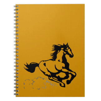 Galloping Horse Wild and Free Spiral Notebook