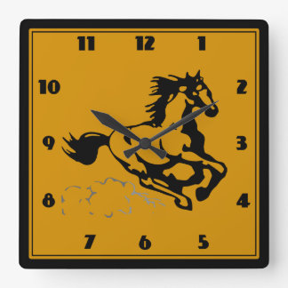 Galloping Horse Wild and Free Wall Clocks