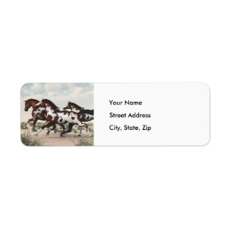 Galloping Horses - Address Labels