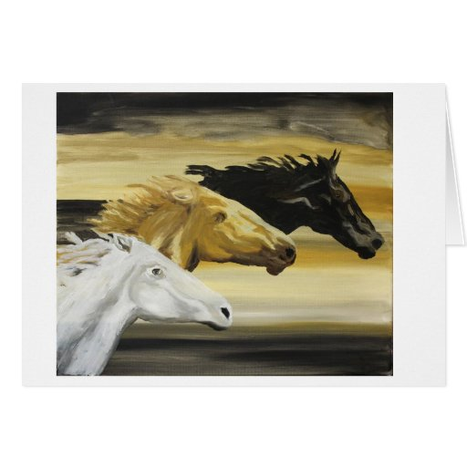 Galloping Horses Cards