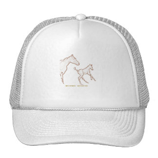 Galloping Horses: Mare and Foal Mesh Hat