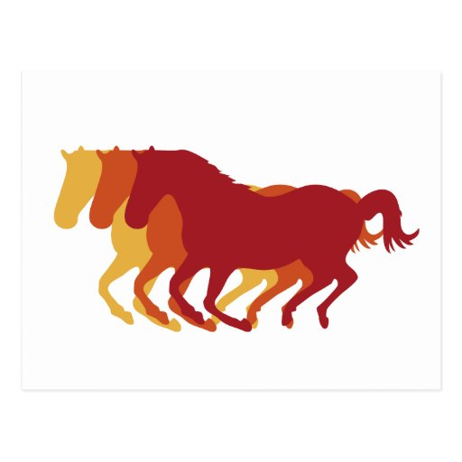 Galloping Horses Post Cards