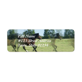 Galloping Mustang Return Address Label