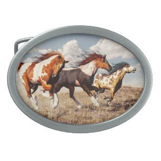 Galloping Mustangs Belt Buckle