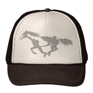 Galloping Paint Horse Cap