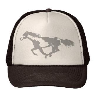 Galloping Paint Horse Mesh Hats