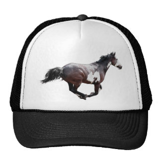 Galloping Paint Pinto Horse Design Trucker Hat