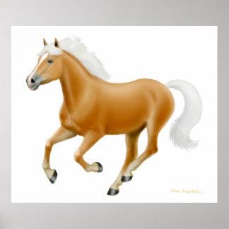Galloping Palomino Haflinger Horse Print