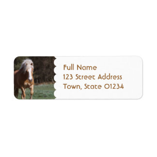 Galloping Palomino  Mailing Labels