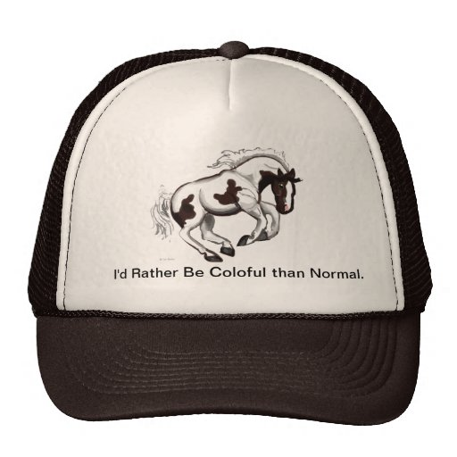 Galloping PInto Horse Hat