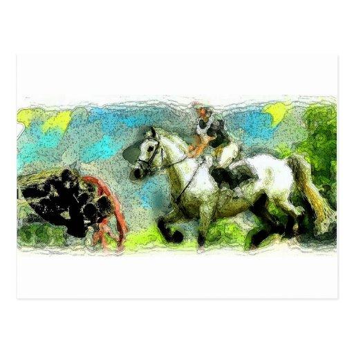 Galloping Post Card