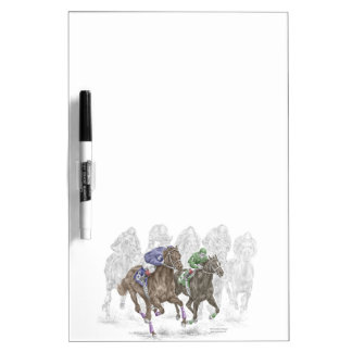 Galloping Race Horses Dry Erase Whiteboard