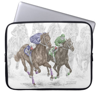 Galloping Race Horses Laptop Sleeve